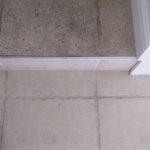part way through a limestone kitchen floor