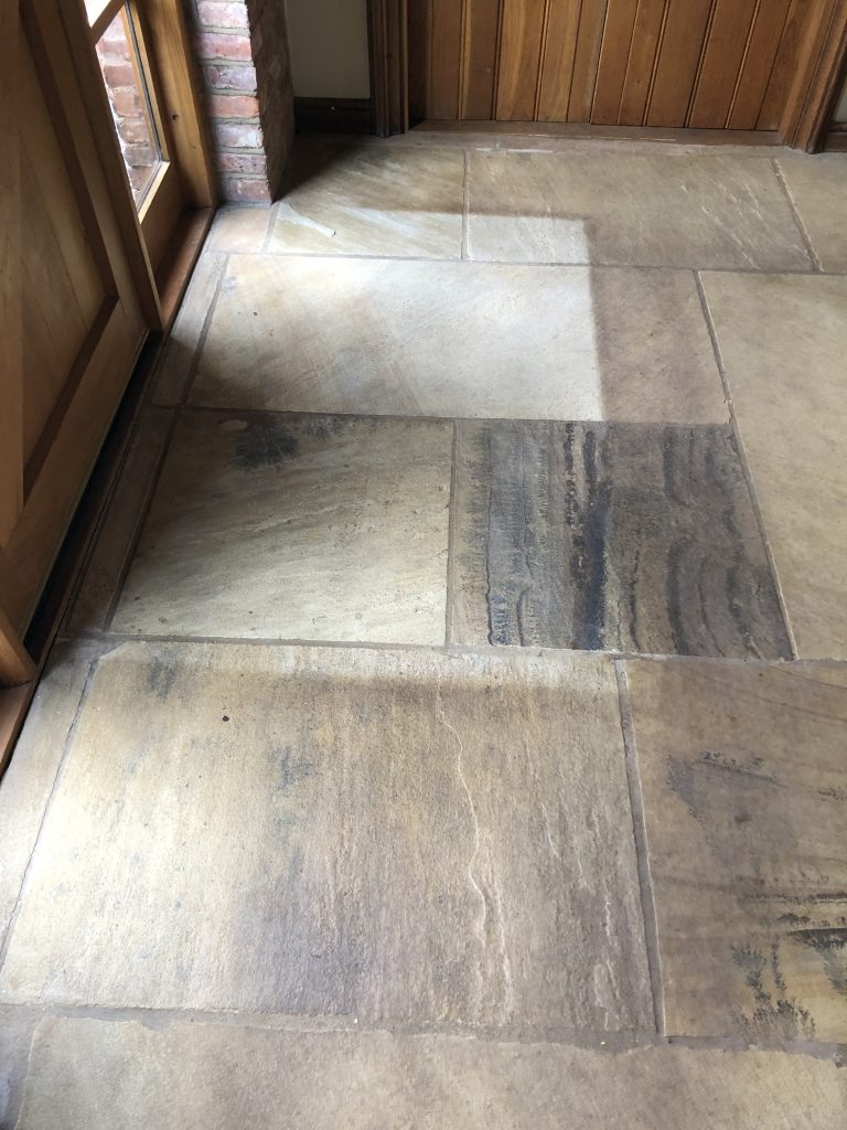 a sandstone floor in Kenilworth to be cleaned and restored